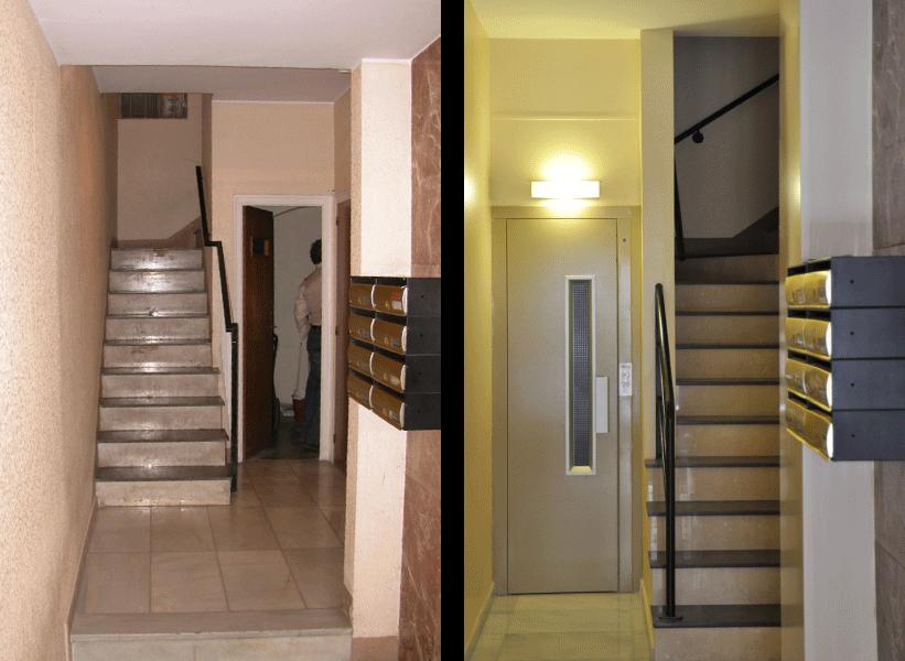 Instalación en edificio sin ascensor